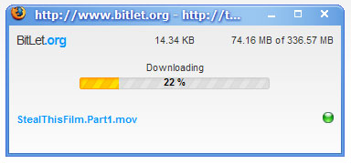 BitLet's download popup